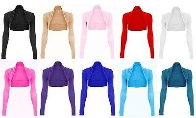 Womens Long Sleeve Bolero Shrug Sweater Jacket Top US Plus Size 6-28