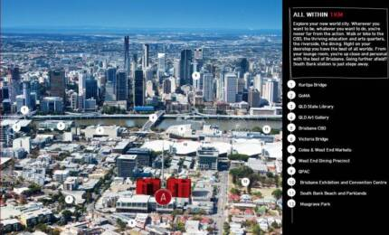 Great Location! South Bank apt looking for one girl to shareroom~ South Brisbane Brisbane South West Preview