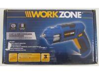 Workzone 3.6V Li-Ion Cordless Screwdriver Tool + Detachable Cartridge & 6 Bits