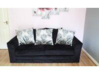 3 Seat Sofa in Black Ex display