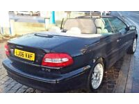 2006 Volvo C70 Black Convertible Auto Beige Leather FSH Long MOT Low Miles Alloys HPI Clear VGC