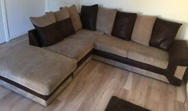 Fabric Scatter Back Corner Sofa
