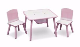 Delta Children Table And Chair Set pink