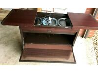 Philips Hostess heated trolley with glass dishes.