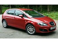 2011 (60) Seat Leon SE CR 1.6 Tdi Metallic red. New MOT and front tyres low mileage serviced,