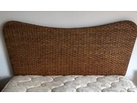 Silentnight Marquis Double Divan Bed with Rattan Headboard.