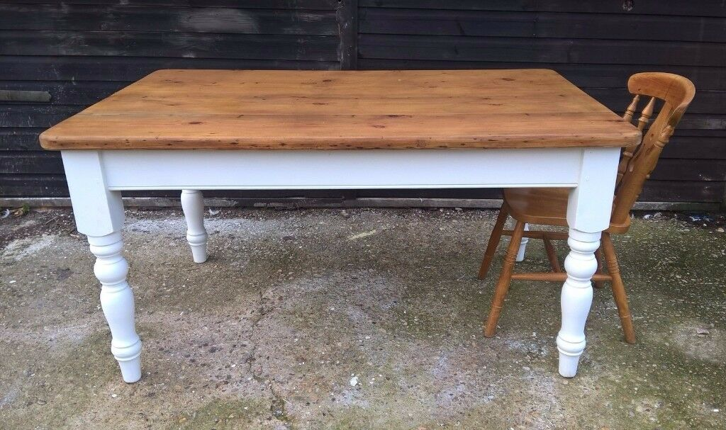 Vintage Pine Farmhouse Kitchen Country Dining Table Free Delivery