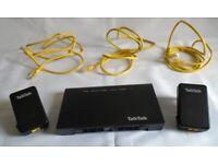 BT Talk Talk Huawei HG633 Router Modem & 2 x D-Link Powerline Adapters PT200AV