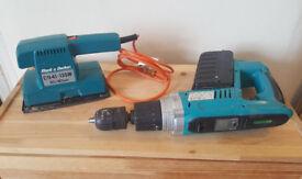 Tools: Black and Decker Sheet Orbital Sander 220v and 24V cordless drill