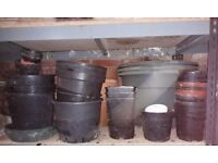 Free to good gardening home - plastic flower pots