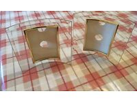 2 x Bevelled Glass Picture Frames