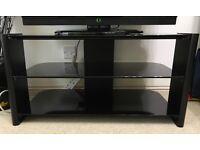 "32"" Black 3 shelves TV stand"