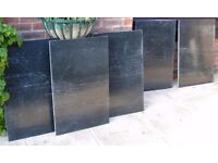 Marble or Granite Sheets – 5 pieces in Black / Green Finish. Only £10 each