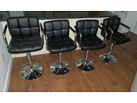 4 breakfast bar chairs - as new condition - flat clearance