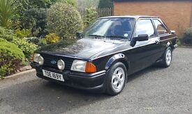 Ford Escort XR3i mk3 first fuel injection Low miles, great classic fast ford