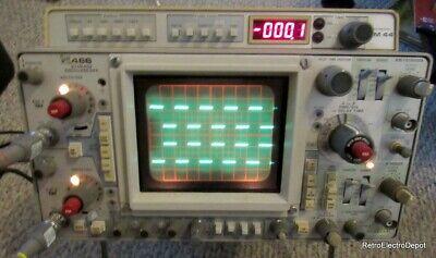 Tektronix 466 Dual Channel Storage Oscilloscope Wdm44 Voltmeter - Works Well