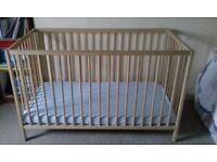 Wooden Cot and Matress used only 3 times