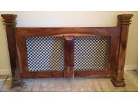 Red Indian oak kingsize bed frame