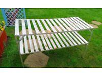 Aliuminion slatter greenhouse bench