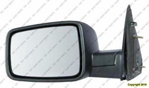 Door Mirror Manual Driver Side Without Tow Textured Dodge Ram 2009-2014
