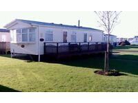 6 birth caravan east-coast c-heating d/glazed. Permanent lease, open 12 months.ground rent paid 2018