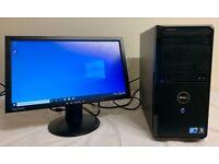 Dell Vostro Computer Desktop Tower PC & LG LCD 19 Widescreen
