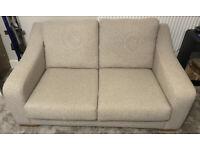 Next Newbrough Cream Two Seater Sofa