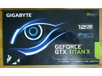GIGABYTE GeForce GTX Titan X 12GB DDR5 384-bit BRAND NEW