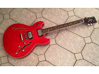 Semi-acoustic electric guitar sell or trade * BARGAIN PRICE £85