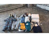 Baby Boys Large Bundle Clothes 6-9 9-12 12-18 months Snow Suits Cot Bumper Etc