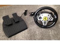 Thrustmaster Ferrari Challenge Steering Wheel for PS3 & PC