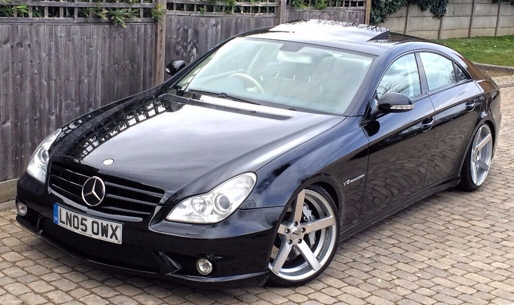 mercedes cls 55 amg 2005 obsidian black metallic supercharged 500bhp auto in fulham london. Black Bedroom Furniture Sets. Home Design Ideas