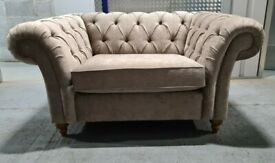 Brand New Next Gosford Snuggle Seat (2 Seats) Antique Velvet Dark Mink RRP £1150
