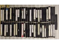 57 Used VHS Tapes