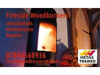 Woodburning Stoves Installed. Repairs and Maintenance. Hetas Trained.