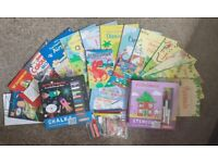 Selection of colouring books and art activities