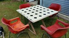 Retro Outdoor Dining Table and Chairs. Aspley Brisbane North East Preview