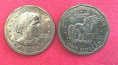 1979 P SBA Susan B Anthony $1 Dollar Coin Narrow Rim Far Date  - Uncirculated (Anthony Dollar Coin)