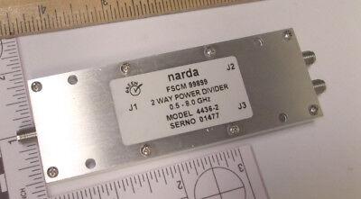 Narda 4436-2  2-way Power Divider Sma Used 8.0 Ghz Rf Used