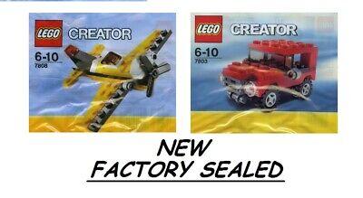 Lego Creator Yellow bi Airplane 7808 + 7803 4x4 red JEEP birthday gift NEW NIB @