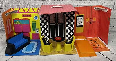 VTG Barbie Family House Mattel Inc Doll House Carnaby Furniture MOD READ