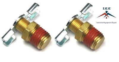 2 X Drain Valve 14 Npt Petcock Water For Air Compressor Tank Replacement Part