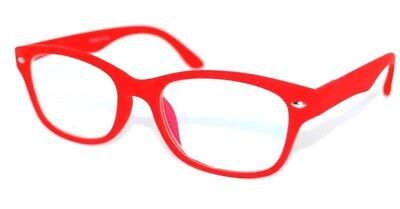 Blue Light Block Computer Reading Glasses W Pouch Red 1.75   New