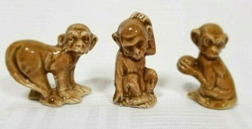 Germany Monkey Vintage Porcelain Figurine - Set of 3 Monkeys Chimpanzee
