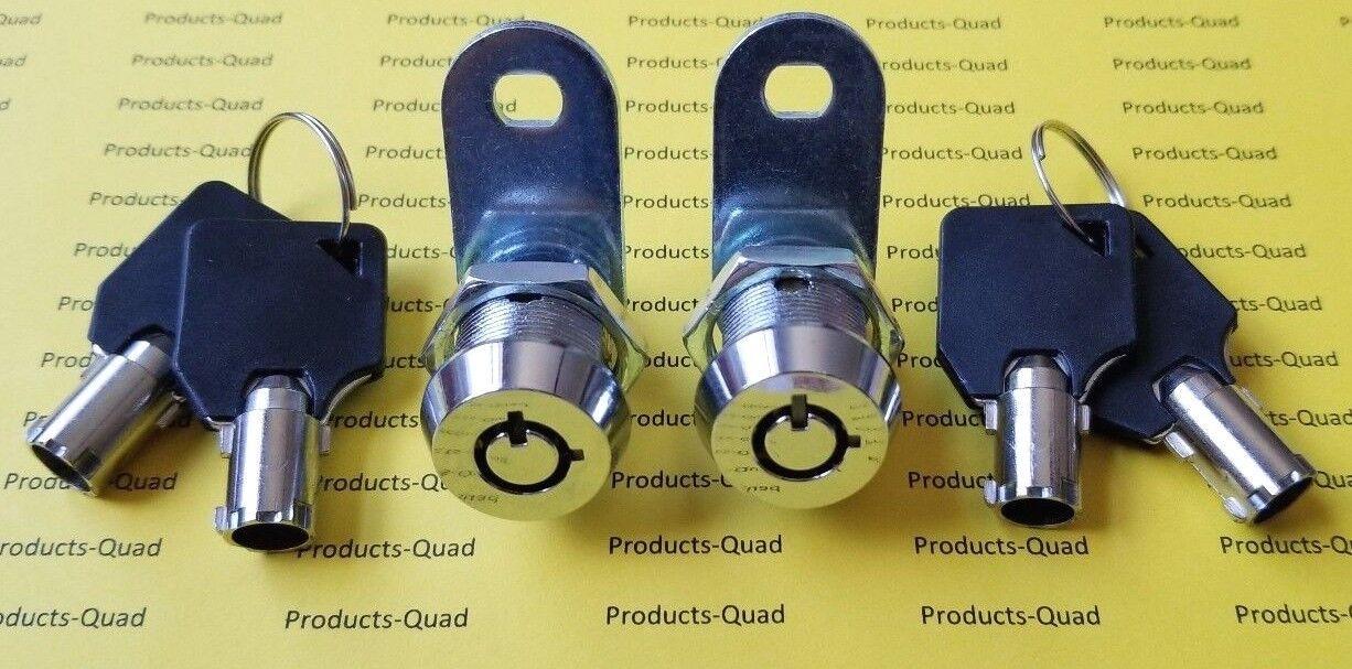 "2 Keyed alike Tubular Cam Lock 5/8"" RV Camper Drawer Toolbox"