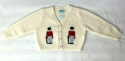 Best & Company Liliputian Bazaar infant wool sweater toy soldier sz 6 mo