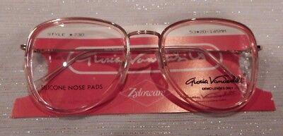 Vintage Gloria Vanderbilt 730 Flesh 53/20 P3 Insert Eyeglass Frame NOS  #236 ()