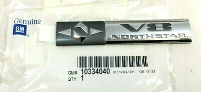 Cadillac SRX XLR DTS STS V8 Northstar trunk decklid Nameplate Emblem new OEM