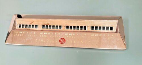 Vintage GE General Electric Range Faceplate Control Panel 50