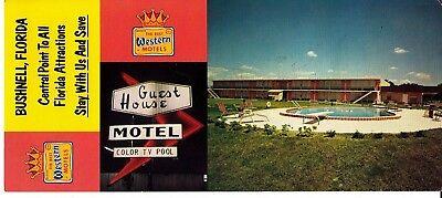 Best Western Motel Bushnell Florida Fl Long Vintage Postcard